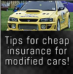 Car insurance for modified cars