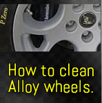 Cleaning alloy wheels